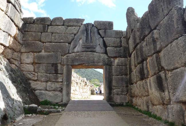 Tour trip greece - La porta dei leoni a micene ...